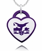 New York Violets Logo Heart Pendant With Color