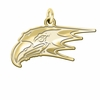 Niagara Purple Eagles 14K Yellow Gold Natural Finish Cut Out Logo Charm