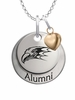 Niagara Purple Eagles Alumni Necklace with Heart Accent