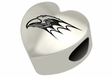 Niagara Purple Eagles Heart Shape Bead