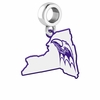 Niagara Purple Eagles Logo Dangle Charm