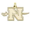 Nicholls State Colonels 14K Yellow Gold Natural Finish Cut Out Logo Charm