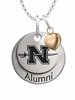 Nicholls State Colonels Alumni Necklace with Heart Accent