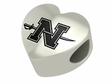 Nicholls State Colonels Heart Shape Bead