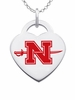 Nicholls State Colonels Logo Heart Pendant With Color