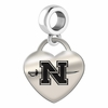 Nicholls State Engraved Heart Dangle Charm