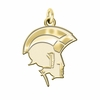 Norfolk State Spartans 14K Yellow Gold Natural Finish Cut Out Logo Charm