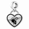 Norfolk State Spartans Border Heart Dangle Charm