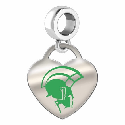 Norfolk State Spartans Color Heart Dangle