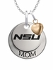 Norfolk State Spartans MOM Necklace with Heart Charm