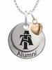 North Carolina A&T Aggies Alumni Necklace with Heart Accent
