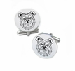 North Carolina A&T Aggies Cufflinks Stainless Steel Round Top
