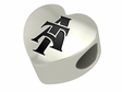 North Carolina A&T Aggies Heart Shape Bead