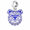 North Carolina A&T Aggies Silver Logo and School Color Drop Charm
