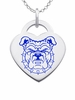 North Carolina A&T Bulldogs Logo Heart Pendant With Color
