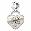 North Carolina A&T Engraved Heart Dangle Charm