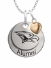North Carolina Central Eagles Alumni Necklace with Heart Accent