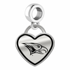 North Carolina Central Eagles Border Heart Dangle Charm