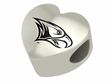 North Carolina Central Eagles Heart Shape Bead