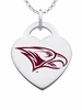 North Carolina Central Eagles Logo Heart Pendant With Color