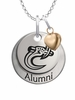 North Carolina Charlotte 49ers Alumni Necklace with Heart Accent