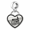 North Carolina Charlotte 49ers Border Heart Dangle Charm