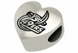 North Carolina Charlotte 49ers Heart Shape Bead