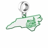 North Carolina Charlotte 49ers Logo Dangle Charm