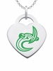 North Carolina Charlotte 49ers Logo Heart Pendant With Color