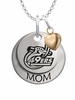 North Carolina Charlotte 49ers MOM Necklace with Heart Charm