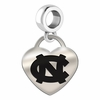 North Carolina Engraved Heart Dangle Charm