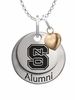 North Carolina State Wolfpack Alumni Necklace with Heart Accent