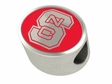 North Carolina State Wolfpack Enamel Bead