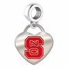 North Carolina State Wolfpack Color Heart Dangle