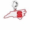 North Carolina State Wolfpack Logo Dangle Charm