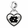 North Carolina Tar Heels Border Heart Dangle Charm