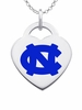 North Carolina Tar Heels Color Logo Heart Charm