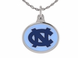 North Carolina Tarheels Silver Enamel Charm