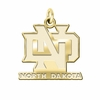North Dakota Athletics 14K Yellow Gold Natural Finish Cut Out Logo Charm