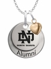 North Dakota Athletics Alumni Necklace with Heart Accent