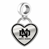 North Dakota Athletics Border Heart Dangle Charm