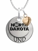 North Dakota Athletics with Heart Accent