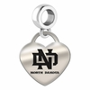 North Dakota Engraved Heart Dangle Charm