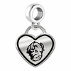 North Dakota State Bison Border Heart Dangle Charm