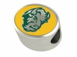 North Dakota State Bison Enamel Bead