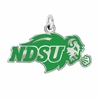 North Dakota State Bison Logo Charm