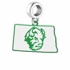 North Dakota State Bison Logo Dangle Charm