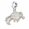 North Dakota State Bison Natural Finish Dangle Charm