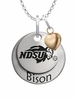 North Dakota State Bison with Heart Accent