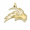 North Florida Ospreys 14K Yellow Gold Natural Finish Cut Out Logo Charm